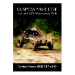Muddy ATV Dune Buggy Motorsports Club Business Card Templates