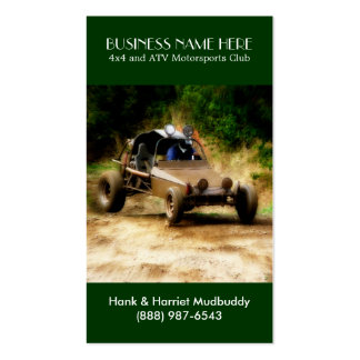 Muddy ATV Dune Buggy Motorsports Club Business Card