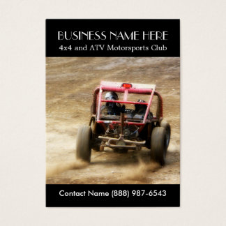 Muddy ATV Dune Buggy Motorsports Club Business Card