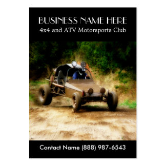 Muddy ATV Dune Buggy Motorsports Club Large Business Card
