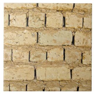Muddy brick wall pattern tile