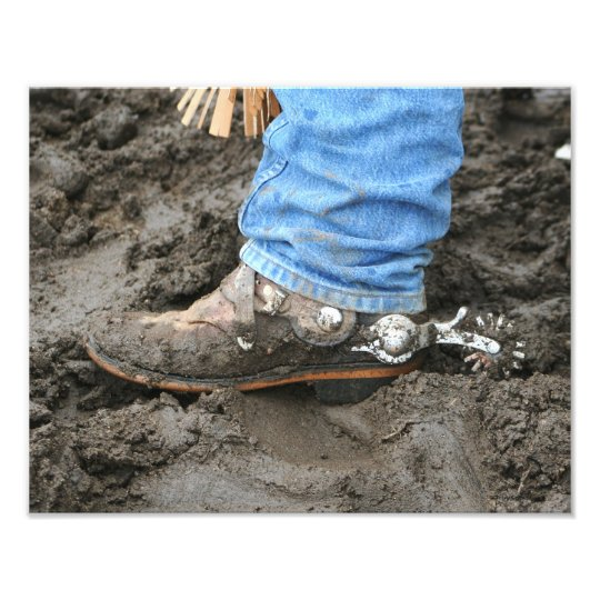 Muddy Cowboy Boot 11x14 Photo Print
