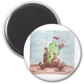 Muddy Dragon 2 Inch Round Magnet