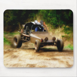 Muddy Dune Buggy on 4x4 dirt track Mouse Pad