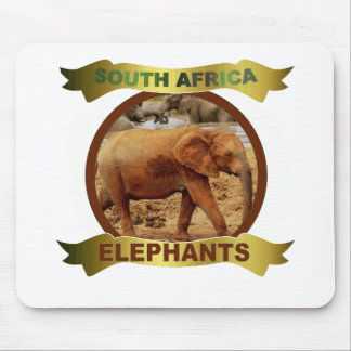 Muddy Elephant framed banner Mouse Pad