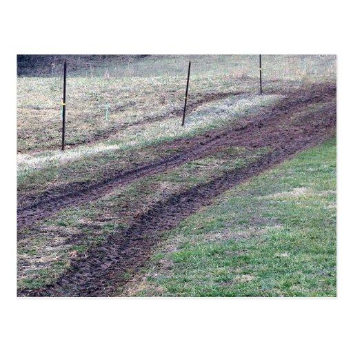 Muddy Farm Road Postcard