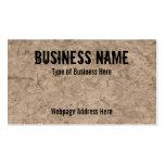 Muddy Ground Image Custom Business Cards