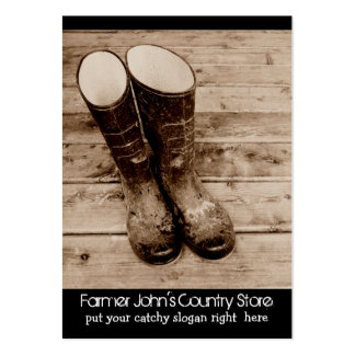 Muddy Gumboots for Farmers Country Store Large Business Card