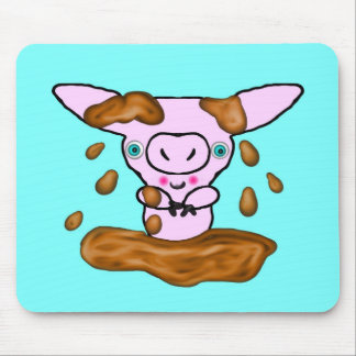 Muddy Little Piglet Mouse Pad