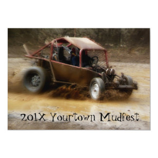 Muddy Mudfest Dunebuggy racing  event Card