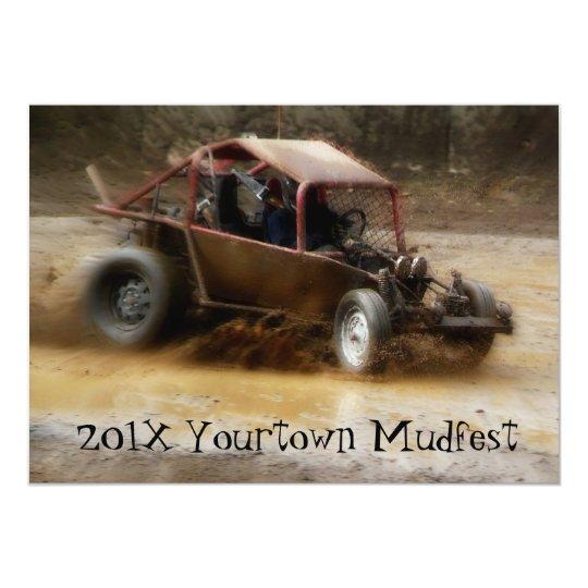 Muddy Mudfest Dunebuggy racing  event Card