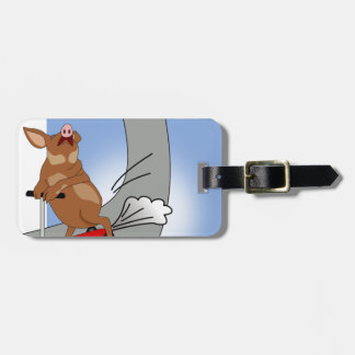 Muddy on Skate Ramp 2 Luggage Tag