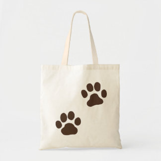 Muddy Paw Prints Tote Bag