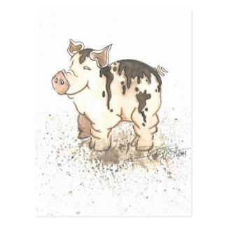 Muddy Pig Postcard