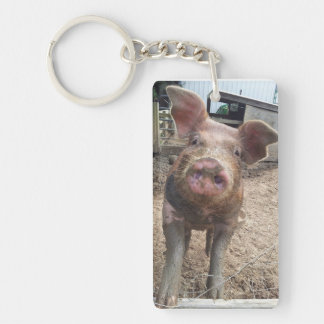 Muddy Pig Rectangle Key Chain