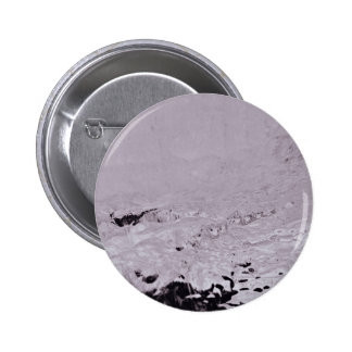 Muddy Themed, Black And White Muddy Soil Surface T Pinback Button