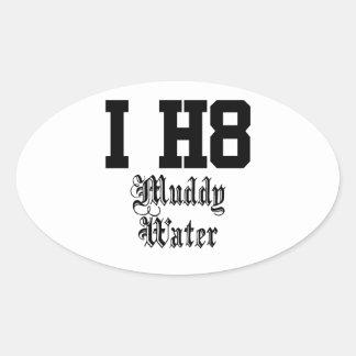 muddy water oval sticker