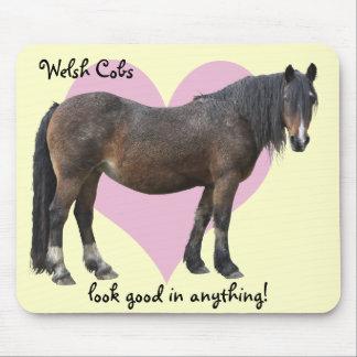 Muddy Welsh cob mousemat Mouse Pad