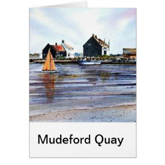 Mudeford Quay No2 Tarjeta De Felicitación
