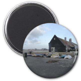 Mudeford Quay on a windy day. 2 Inch Round Magnet