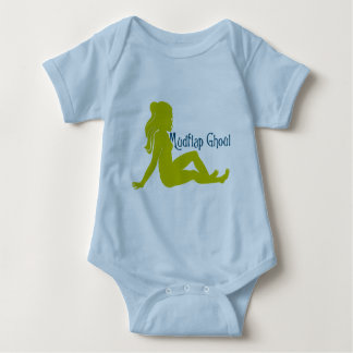 Mudflap Ghoul Lime Teal Baby Bodysuit