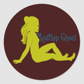 Mudflap Ghoul Lime Teal Classic Round Sticker