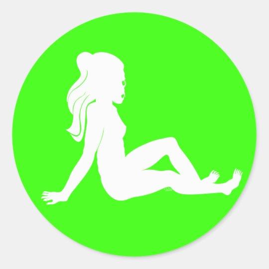 Mudflap Ghoul White Classic Round Sticker