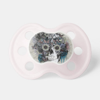 Mudo, damasco del cráneo del girasol chupetes para bebés