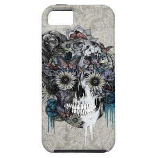 Mudo, damasco del cráneo del girasol iPhone 5 carcasas