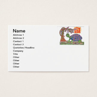 Mudpud the Turtle in the Sun Business Card