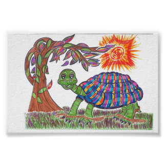 Mudpud the Turtle in the Sun Poster