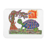 Mudpud the Turtle in the Sun Rectangle Magnet