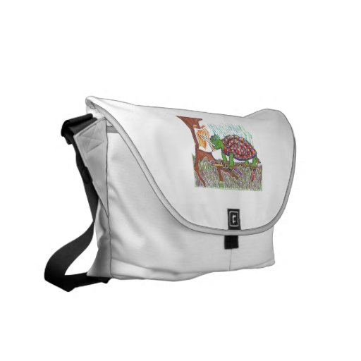 Mudpud the Turtle is an Artiste Courier Bag