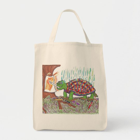 Mudpud the Turtle is an Artiste Tote Bag