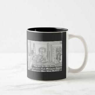 Mudville Greed Black & White Two-Tone Coffee Mug
