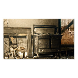 Muebles antiguos abandonados viejos tarjeta personal