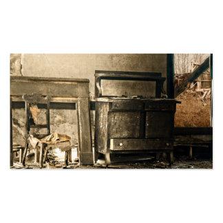 Muebles antiguos abandonados viejos tarjetas de visita