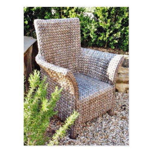 Muebles de la silla de la cesta tarjetas postales
