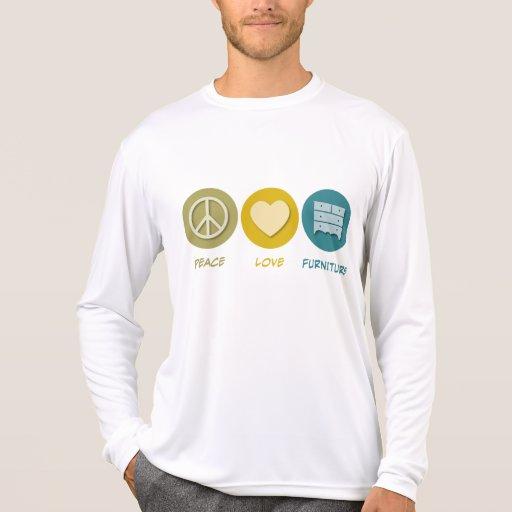 Muebles del amor de la paz camisetas