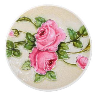 Muebles florales subiós vintage pomo de cerámica