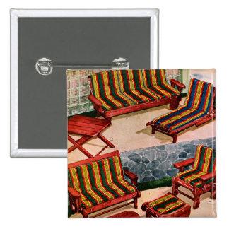 Muebles retros del patio de los suburbios del vint pin