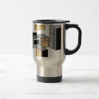 Muebles y aplicaciones de la cocina taza de viaje de acero inoxidable