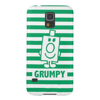 Mueca dañosa de Sr. Grumpy el   y rayas verdes Carcasa Galaxy S5
