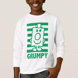 Mueca dañosa de Sr. Grumpy el | y rayas verdes Playera