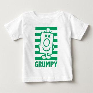 Mueca dañosa de Sr. Grumpy el | y rayas verdes Playera De Bebé