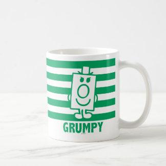 Mueca dañosa de Sr. Grumpy el | y rayas verdes Taza De Café
