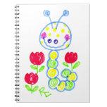 Mueca de Caterpillar feliz Libro De Apuntes