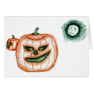 Mueca de la calabaza de Halloween Tarjeta De Felicitación