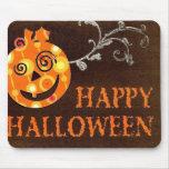 Mueca de la calabaza Halloween Mousepad Alfombrillas De Raton