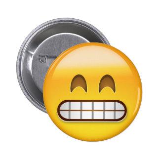 Mueca de la cara con los ojos sonrientes Emoji Pin